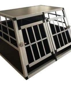 Car Pet Cage With Double Door - pawsandtails.pet