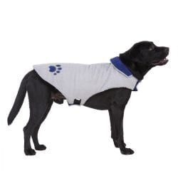 Blue & White Reversible Coat - pawsandtails.pet