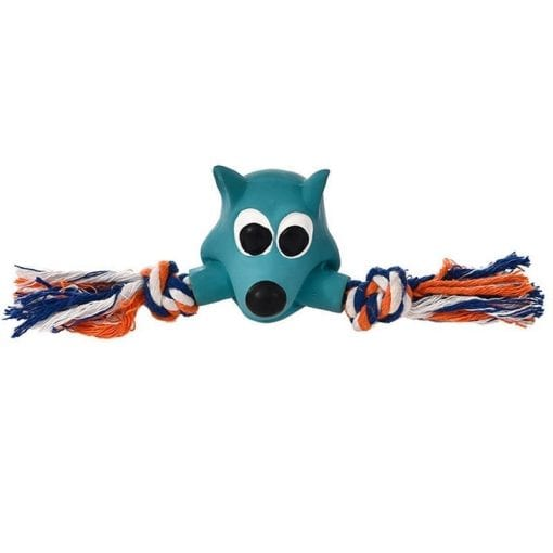 Rope Tug Fox - pawsandtails.pet