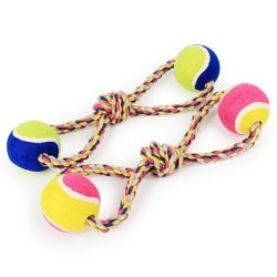 Tennis Rope Tug Double - pawsandtails.pet