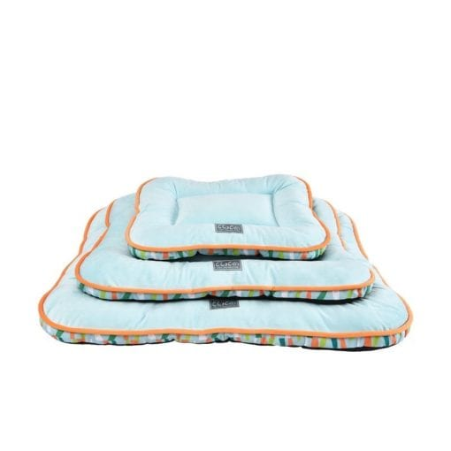 Green & Orange Mat With Side Retro Pattern - pawsandtails.pet