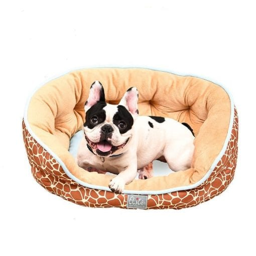 Round Bed With Giraffe Pattern - pawsandtails.pet