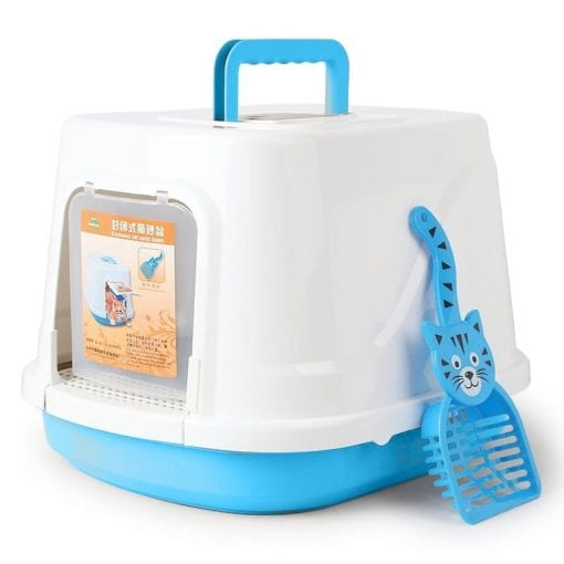 Covered Litter Tray With Scoop - pawsandtails.pet