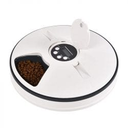 Timed Feeder, Automatic Food Dispenser With 6 Meal Compartments - pawsandtails.pet