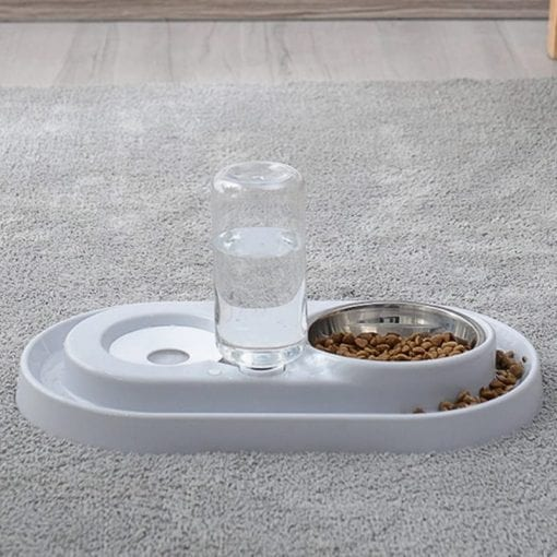 Double Bowl For Food & Drink – Automatic Water Refill - pawsandtails.pet