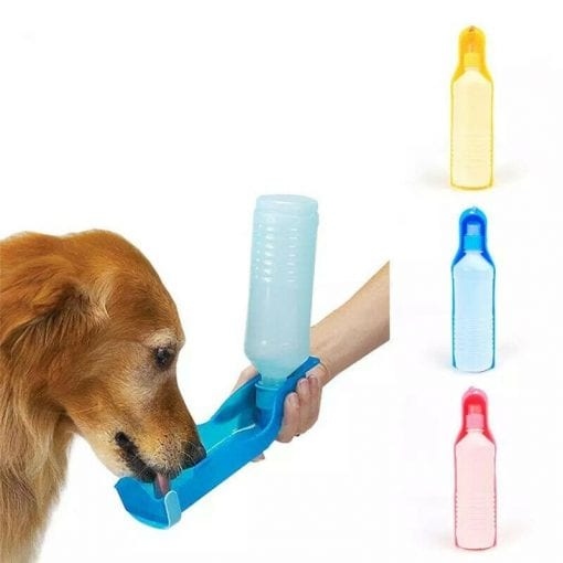 500ml Portable Water Bottle & Bowl - pawsandtails.pet