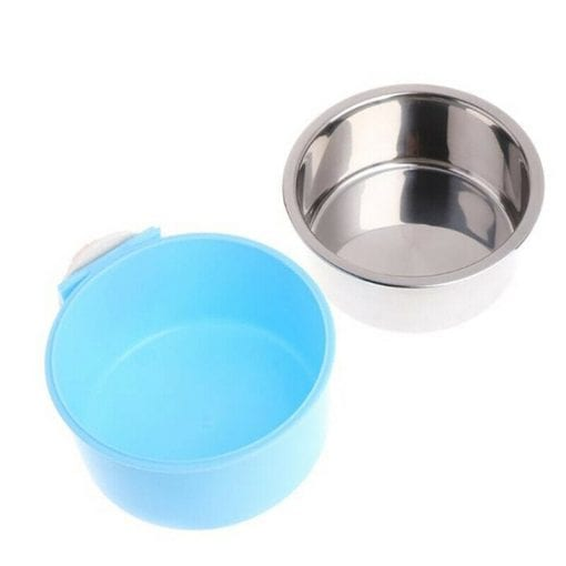 Stainless Steel Food & Water Bowl For Cages - pawsandtails.pet