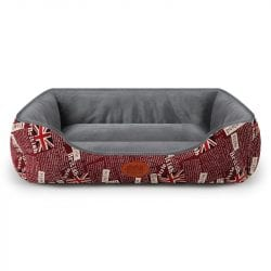 UK Pattern Soft and Simple Pet Bed - pawsandtails.pet