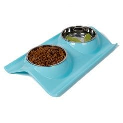 Double Stainless Steel Dog Bowls for Food & Water - pawsandtails.pet