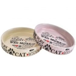 Ceramic Faithful Pet Bowl for Cat- Food or Water Bowl – 2 Colours - pawsandtails.pet