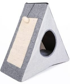 Triangular Tent Pet Bed for Cats - pawsandtails.pet